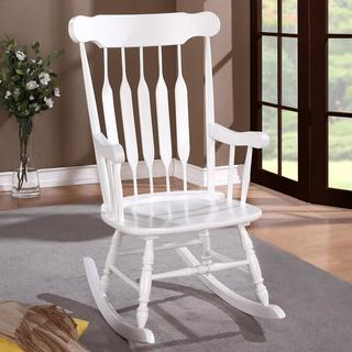 Country Style White Rocking Chair