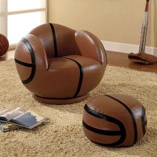 Kids Basketball Design Chair and Ottoman