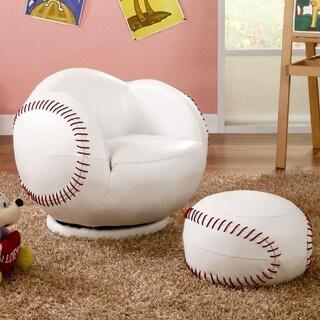 Kids Baseball Design Chair And Ottoman