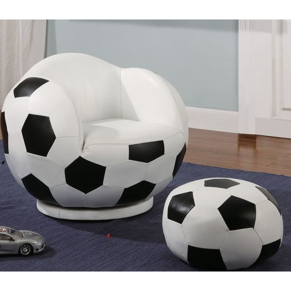 Ordinaire Kids Soccer Ball Design Chair And Ottoman