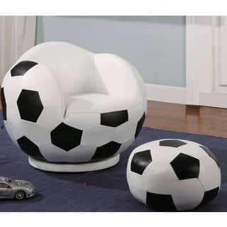 Kids Soccer Ball Design Chair and Ottoman|https://ak1.ostkcdn.com/images/products/16118993/P22499842.jpg?impolicy=medium