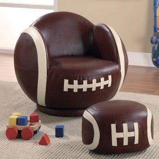 Kids Football Design Chair and Ottoman