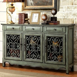 Decorative Antique Green Sideboard Accent Cabinet
