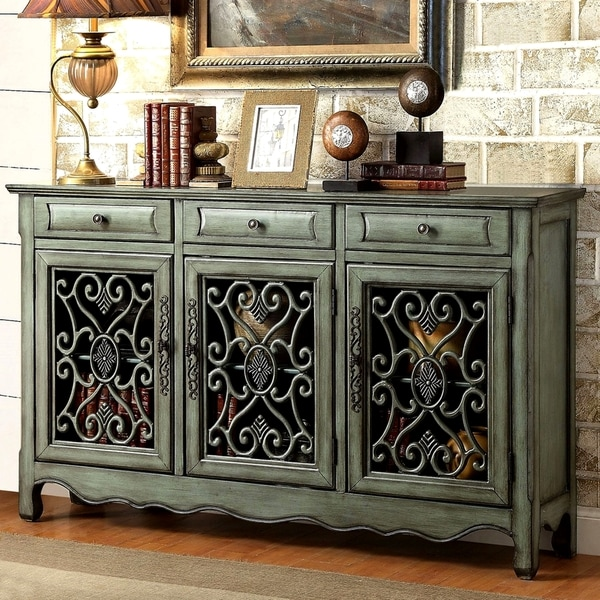 Shop Decorative Antique Green Sideboard Accent Cabinet