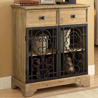 Natural Raw Rustic Accent Cabinet