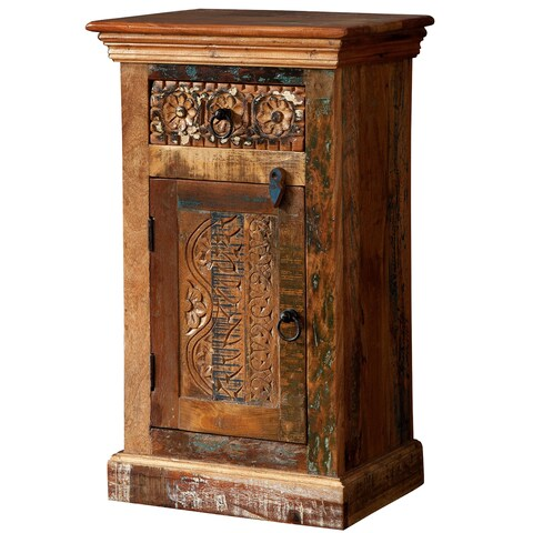 Reclaimed Wood Decorative Accent Cabinet