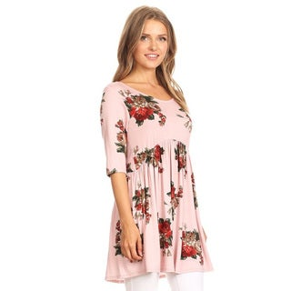 Women's Floral Pattern Babydoll Tunic