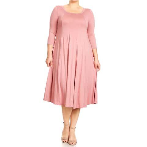 Women's Plus Size Dusty Pink Dress