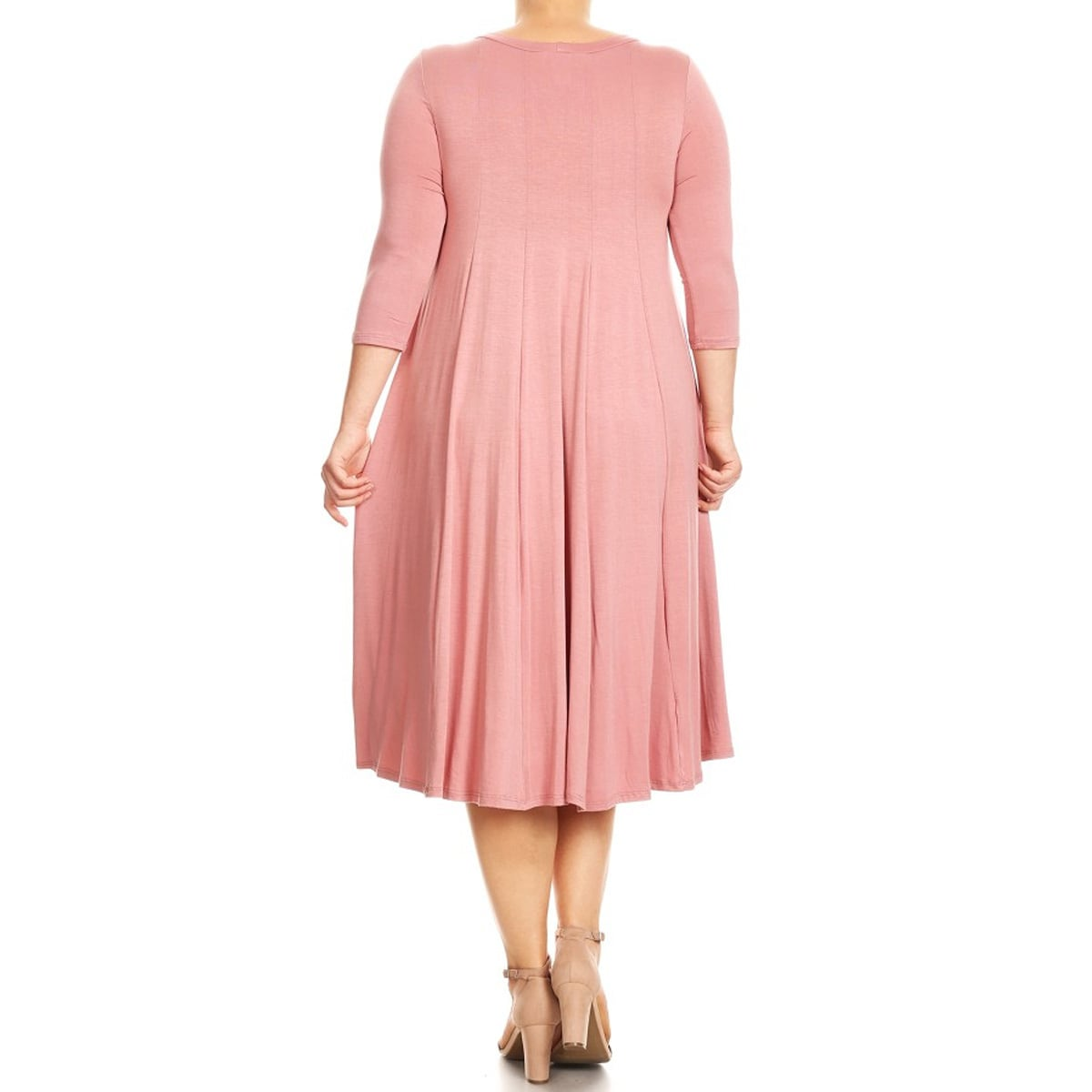 Women\'s Plus Size Dusty Pink Dress