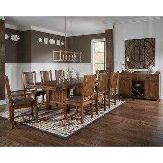 Gemma 10-piece Solid Wood Dining Set