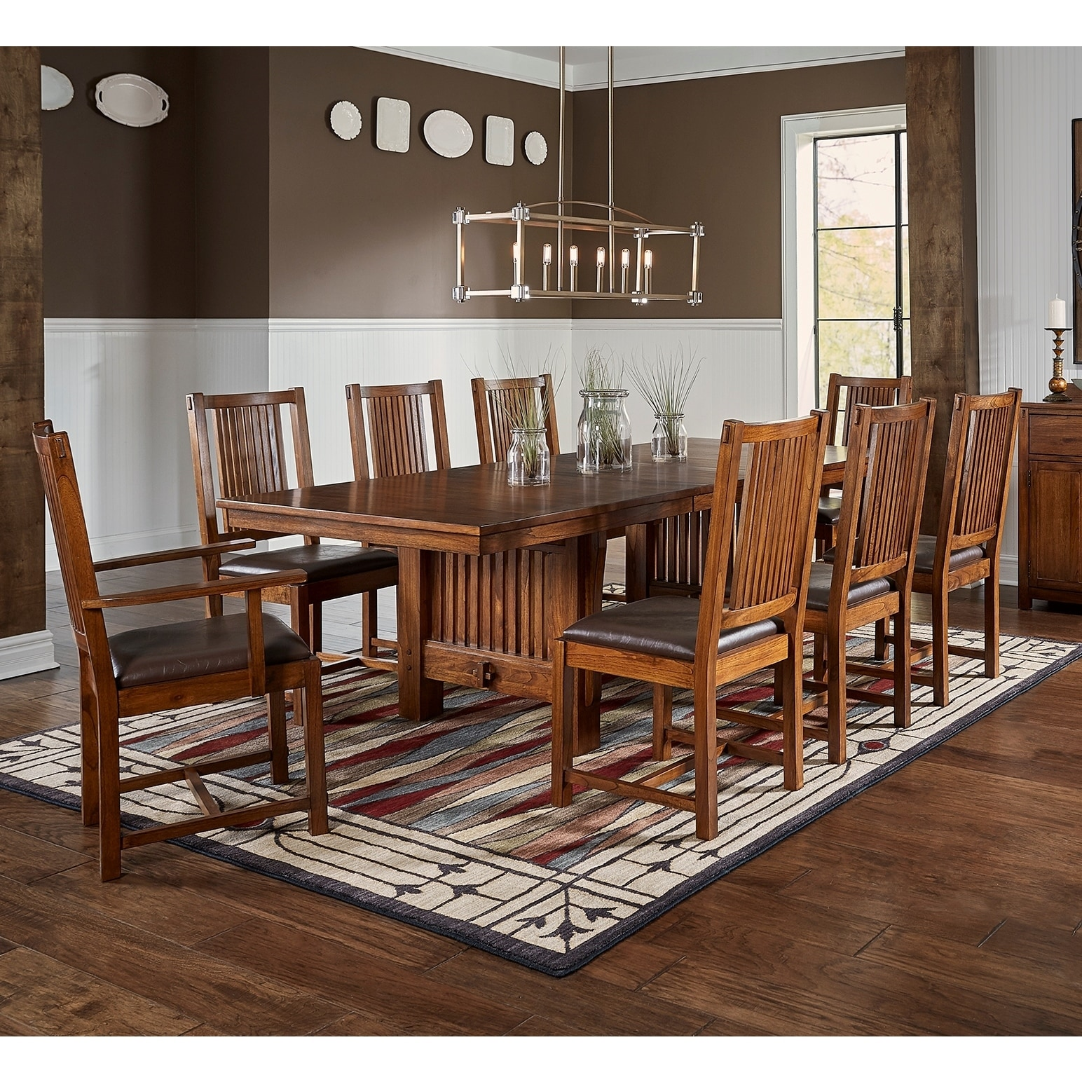 Gemma 9-piece Solid Wood Dining Set (Gemma 9pc Solid Wood...