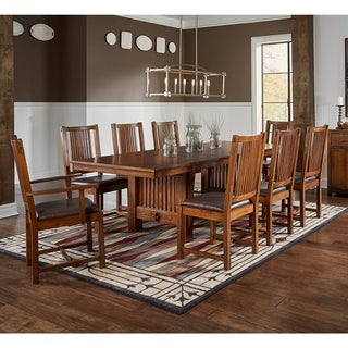 Gemma 9 Piece Solid Wood Dining Set