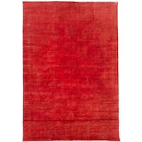 eCarpetGallery Color Transition Red Hand-knotted Wool Rug - 7'10 x 14'8