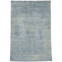 eCarpetGallery Hand-knotted Color Transition Blue/Grey Wool and Cotton Rug (5'3 x 7'9)