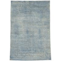 eCarpetGallery Hand-knotted Color Transition Blue/Grey Wool and Cotton Rug - 5'3 x 7'9