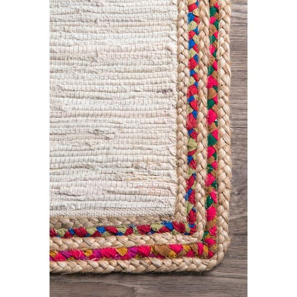 Nuloom Handmade Woven Striped Denim Rag Area Rug On