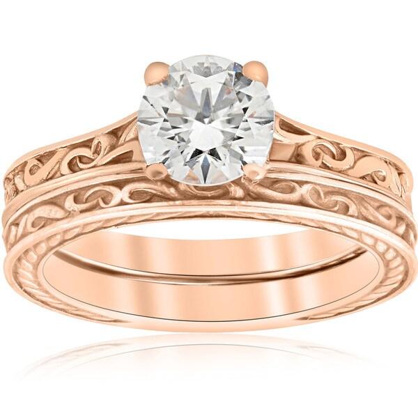 Shop 1ct Diamond Solitaire 14k Rose Gold Vintage