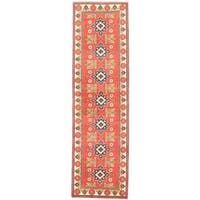 eCarpetGallery Finest Kargahi Brown/Yellow Wool Hand-knotted Rug - 2'9 x 9'8