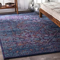 nuLOOM Persian Mamluk Diamond Purple Rug - 3' x 5'