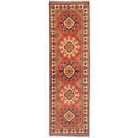 eCarpetGallery Kargahi Brown Wool Hand-knotted Rug (2'11 x 9'7)