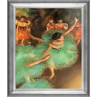 Edgar Degas 'The Green Dancer' Hand Painted Framed Oil Reproduction on Canvas