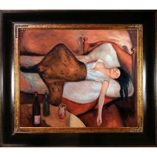 Edvard Munch 'The Day After' Hand Painted Framed Oil Reproduction on Canvas