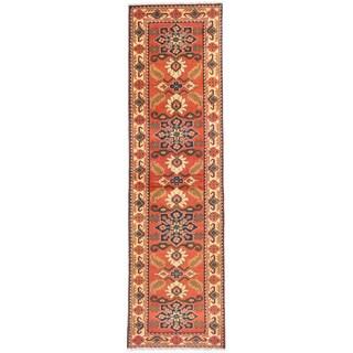 eCarpetGallery Kargahi Brown Wool Hand-knotted Rug (2'10 x 10')