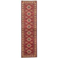 eCarpetGallery Hand-knotted Finest Kargahi Red Wool Cotton Rug - 2'10 x 9'11