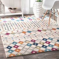 The Curated Nomad Ashbury Beaded Moroccan Multicolor Rug - 8' x 10'