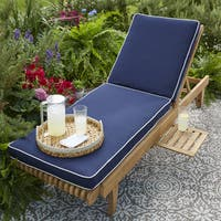 Kokomo Teak Hinged Sunlounger Cushion with Sunbrella Fabric