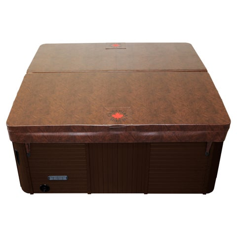Square Hot Tub Cover with 5in/3in Taper - Brown