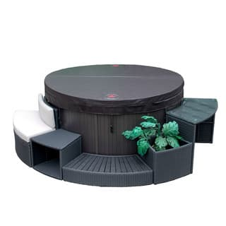 Canadian Spa Company Brown Aluminum 5-piece Round Spa Furniture|https://ak1.ostkcdn.com/images/products/16120189/P22500856.jpg?impolicy=medium