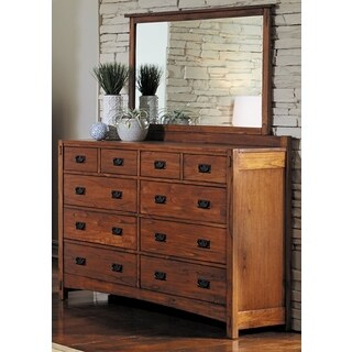 Simply Solid Milla Solid Wood Dresser and Mirror Set (2-piece)