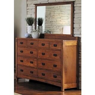 Milla Solid Wood Dresser and Mirrror Set (2-piece)