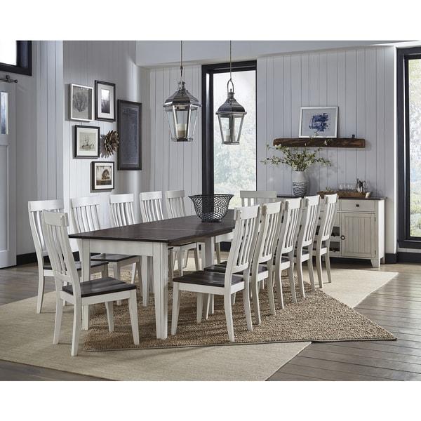 12 Piece Dining Room Set: Shop Tessa 12-piece Solid Wood Dining Set