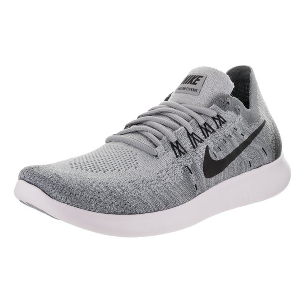 Shop Nike Women s Free RN Flyknit 2017 Grey Running Shoes - Free ... 311fbe5474