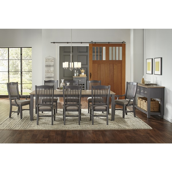 Shop Luma 10-piece Solid Wood Dining Set