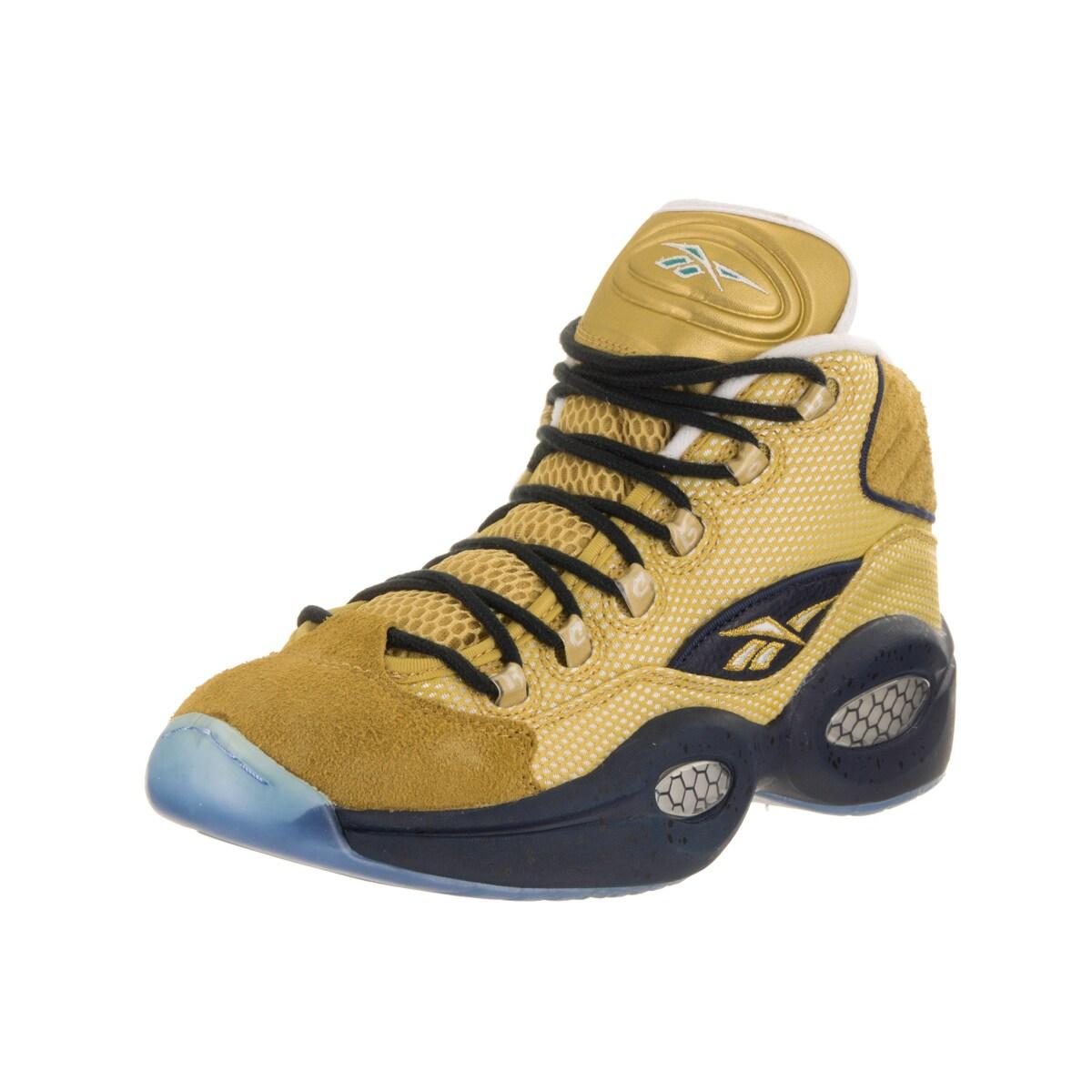 Reebok Men's Question Mid EBC Basketball Shoe (11), Yello...