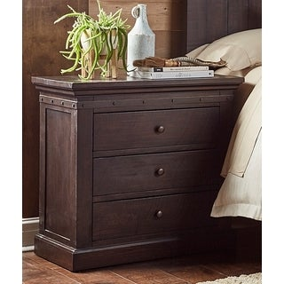 Simply Solid Lara Solid Wood 3-Drawer Nightstands (Set of 2)
