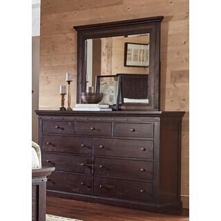 Simply Solid Lara 2-piece Wood Dresser and Mirror Set