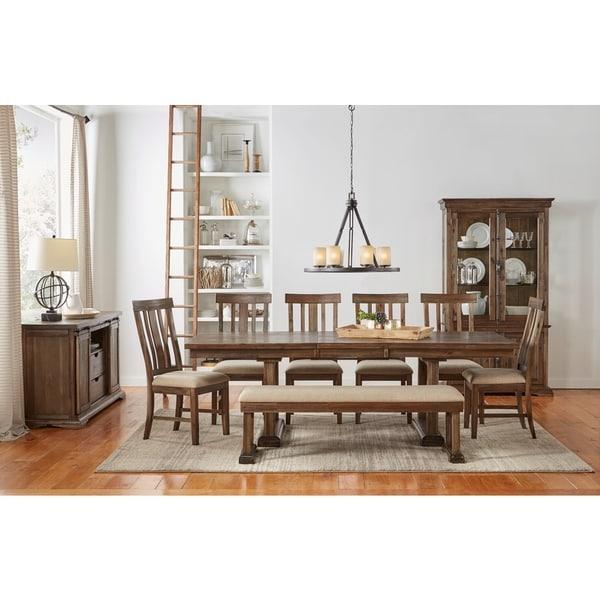 Monarch White Oak 7 Piece Dining Set: Shop Miranda 7-piece Solid Wood Dining Set