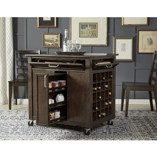 Charming Simply Solid Lucia Expresso Solid Wood Kitchen Island