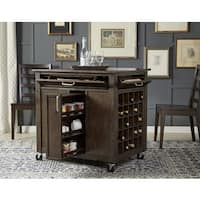 Simply Solid Lucia Expresso Solid Wood Kitchen Island