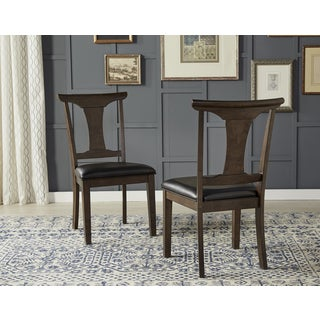 Simply Solid Issa Espresso Wood/Faux-leather Dining Chairs (Set of 2)