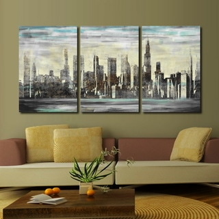'The City' 3-piece Gallery-wrapped Canvas Art Set