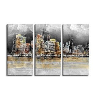 'Imaginary City' 3-piece Gallery-wrapped Canvas Art Set