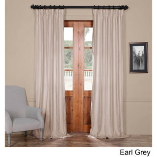 Exclusive Fabrics French Linen Lined Curtain Panel (5 options available)
