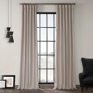 Exclusive Fabrics Earl Grey French Linen Lined Curtain Panel