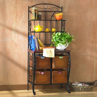 Harper Blvd Iron and Wicker Bakers Rack|https://ak1.ostkcdn.com/images/products/1613542/P1154714.jpg?impolicy=medium