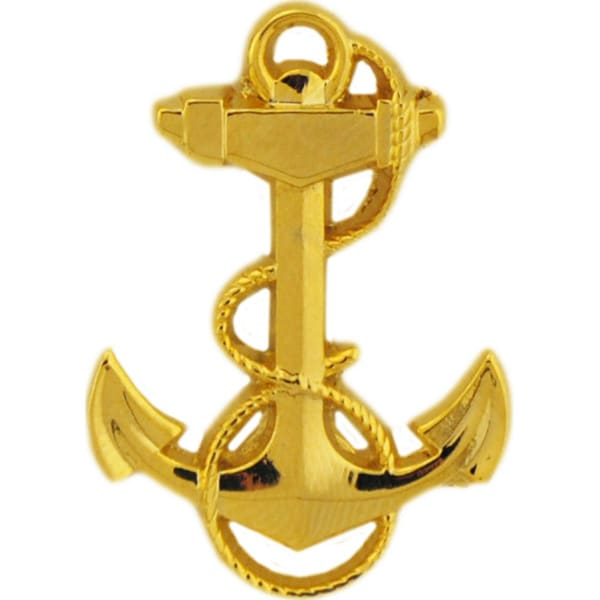 U.S. Navy Midshipman Yellow Metal Military Lapel Pin